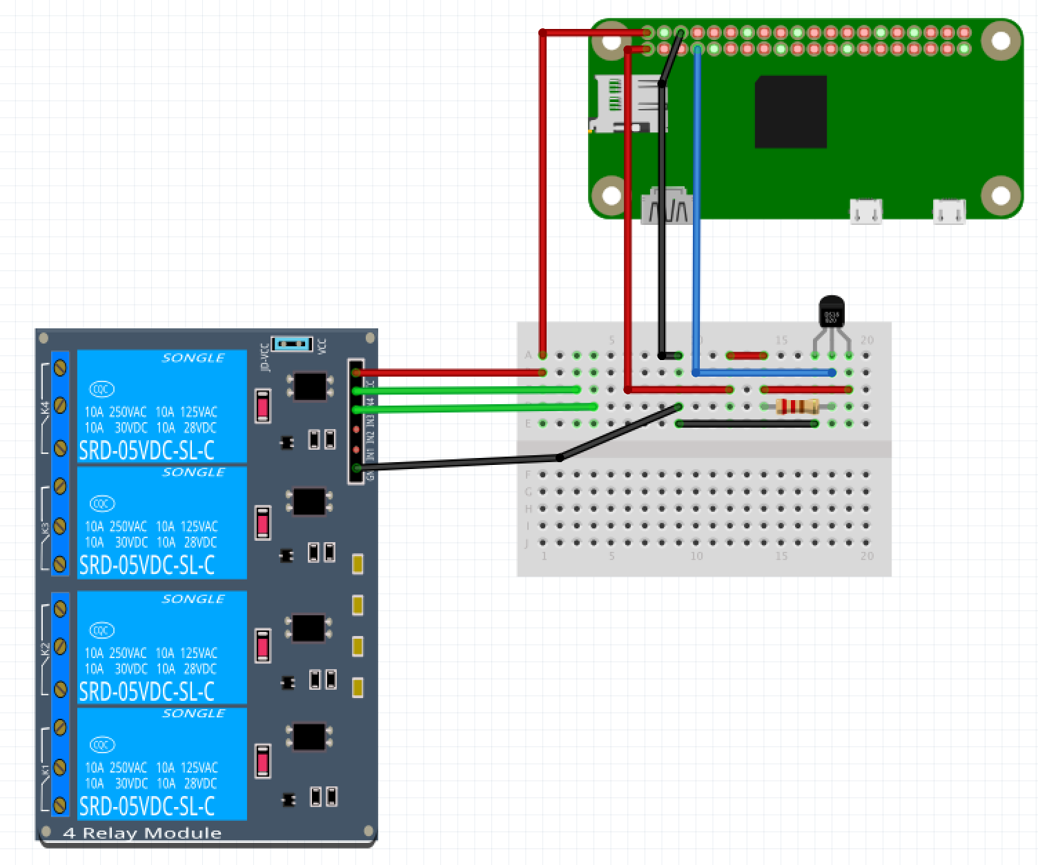 Temperature Controller Ds18b20 Wiring